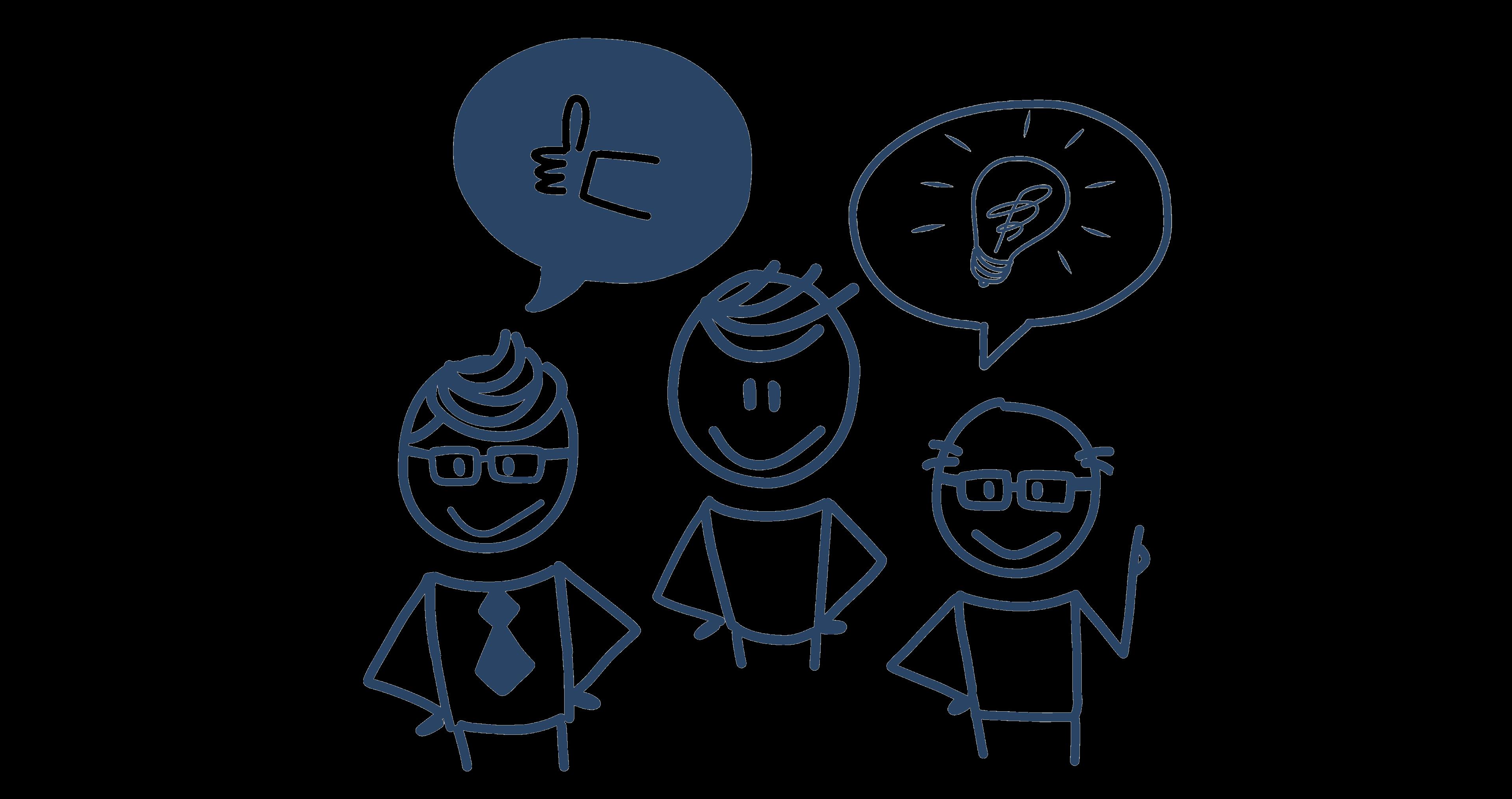 Kuvituskuva, aiheena kommunikointi